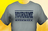 School Baseball Team T-Shirt BBL-1005