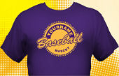 School Baseball Team T-Shirt BBL-1012