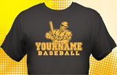 School Baseball Team T-Shirt BBL-1013