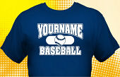 School Baseball Team T-Shirt BBL-1015
