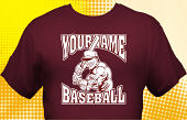 School Baseball Team T-Shirt BBL-1016