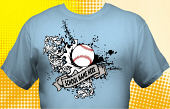 School Baseball Team T-Shirt BBL-3002