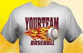 School Baseball Team T-Shirt BBL-4003