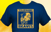 School Braves T-Shirt MBA-1004