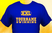 Swim & Swimming Team T-Shirt SWM-1007