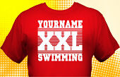 Swim & Swimming Team T-Shirt SWM-1013