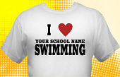 Swim & Swimming Team T-Shirt SWM-2001