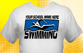 Swim & Swimming Team T-Shirt SWM-2002