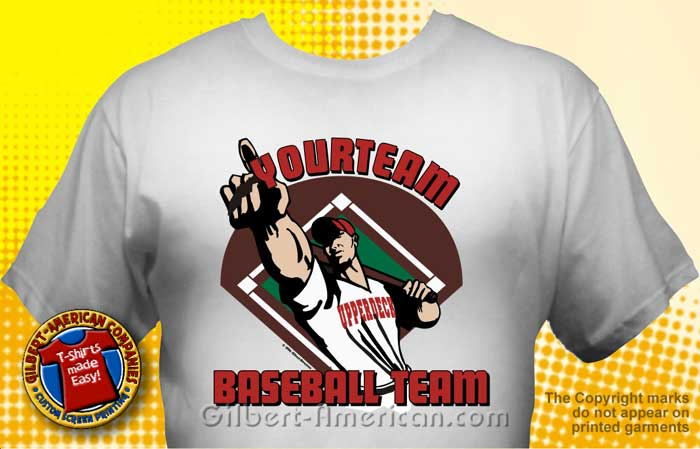 Baseball Team T-Shirt Design Ideas :: School Spirit, FREE Shipping.