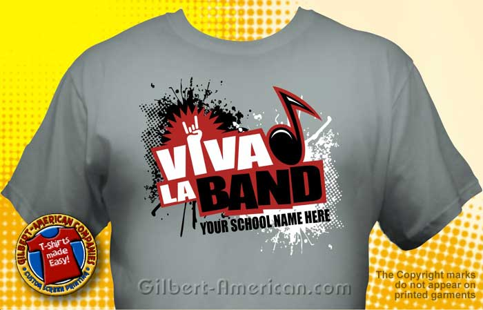 Band T-Shirt Design Ideas :: School Spirit, FREE Shipping.