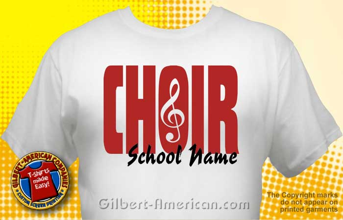 Chorus & Choir T-Shirt Design Ideas :: School Spirit, Free Shipping.