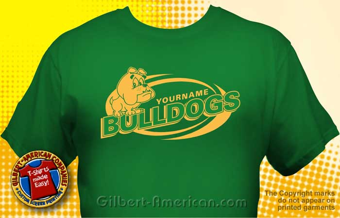 bulldog t shirt mbd 1004 - School Shirt Design Ideas