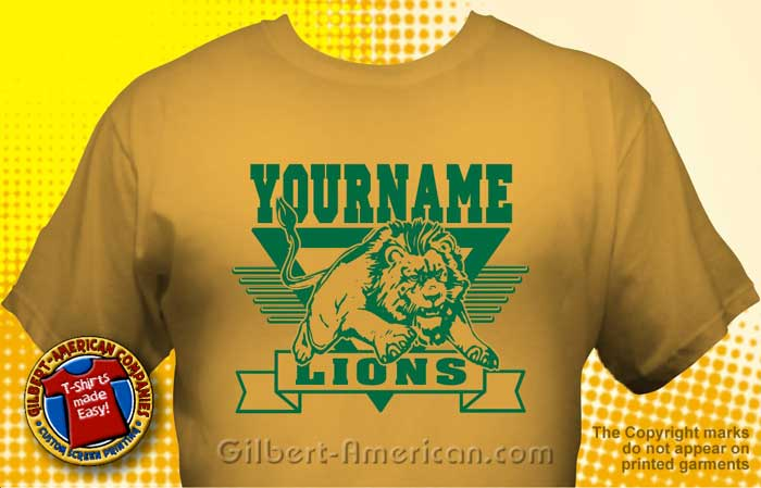 Lion Mascot T-Shirt Design Ideas :: School Spirit, FREE Shipping.